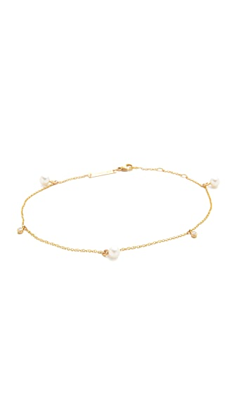 Zoe Chicco Freshwater Cultured Pearl Anklet