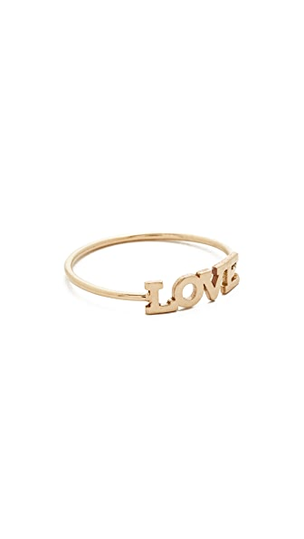 Zoe Chicco 14k Gold Love Pinky Ring - Gold