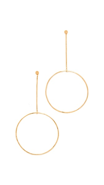 Zoe Chicco Large Drop Circle Earrings - Gold