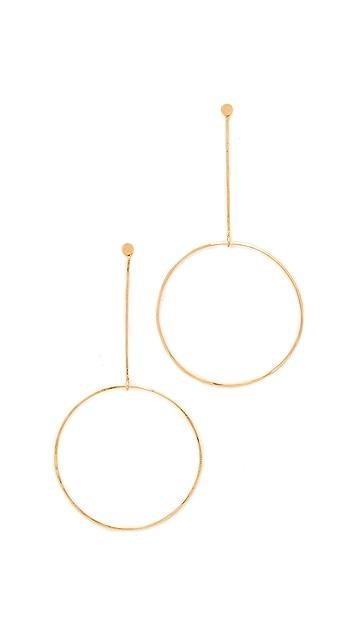 Zoe Chicco Крупные круглые серьги-капли