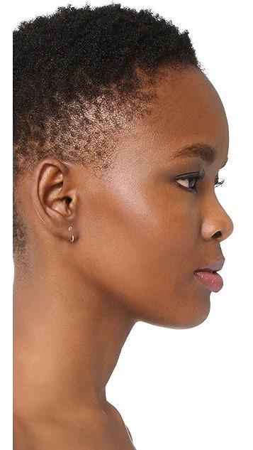 Zoe Chicco Diamond Reversible Open Hoop Earrings