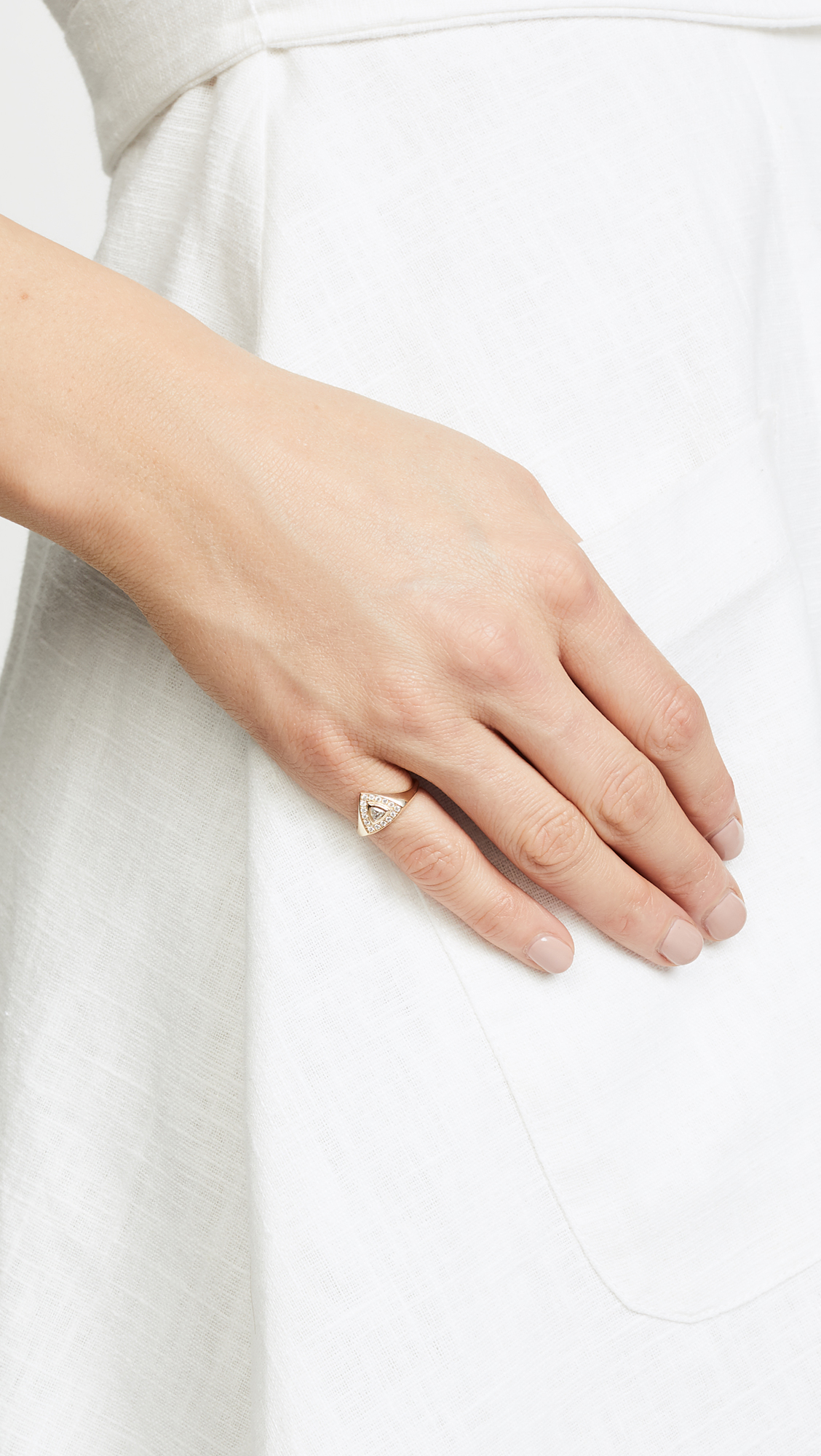 Zoë Chicco 14k Gold Trillion Signet Pinky Ring UrpqbDmBIz