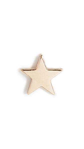 14K SINGLE ITTY BITY STAR STUD EARRING
