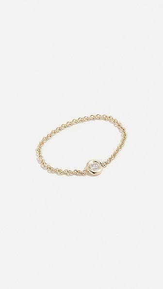 Zoë Chicco 14K GOLD FLOATING DIAMOND RING