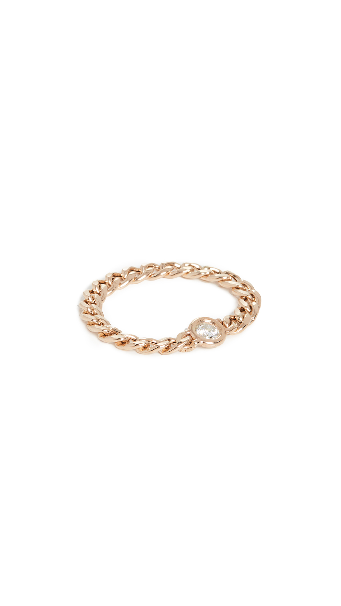 ZoË Chicco 14K Gold Small Curb Chain Ring In Yellow
