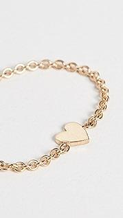 Zoe Chicco 14k Gold Itty Bitty Heart Chain Ring