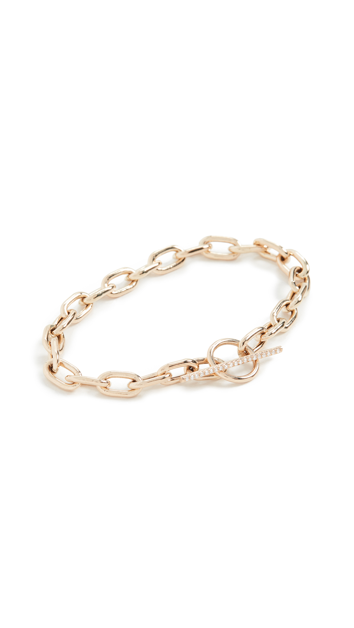 Zoe Chicco 14k Gold Extra Large Square Oval Link Bracelet