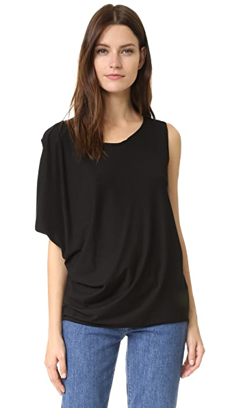 Zero + Maria Cornejo One Wing Top - Black