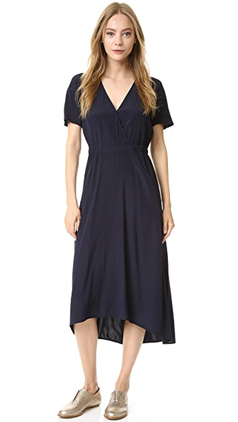 Zero + Maria Cornejo Wrap Isie Dress - Ink Jet