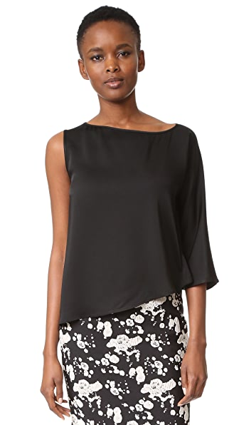 Zero + Maria Cornejo Circle Top - Shiny Black