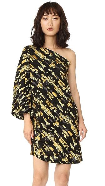 Zero + Maria Cornejo Triptych Dress In Sunflower