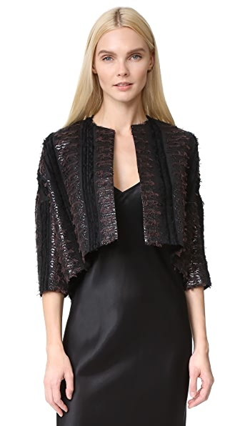 Zero + Maria Cornejo Long Sleeve Koy Shrug - Black