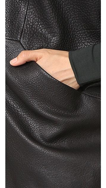 Zero + Maria Cornejo Leather Rio Shrug