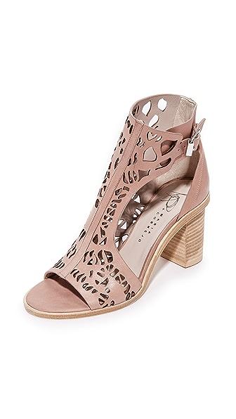 Zero + Maria Cornejo Faas Cutout Ankle Boots - Latte