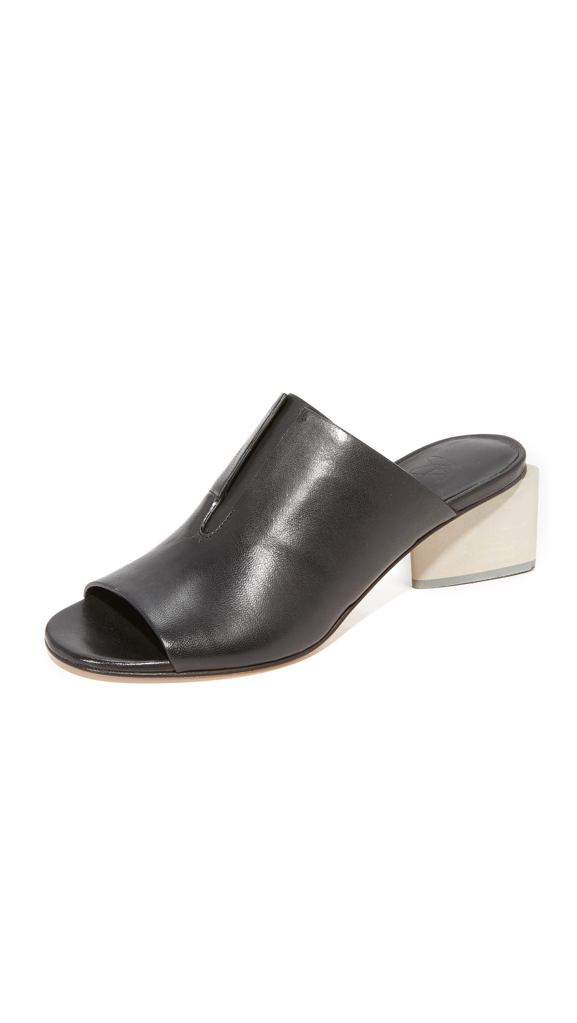 Zero + Maria Cornejo Izel Mule Sandals - Black