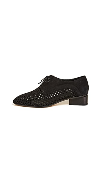 Zero + Maria Cornejo Bowie Perforated Loafers In Black