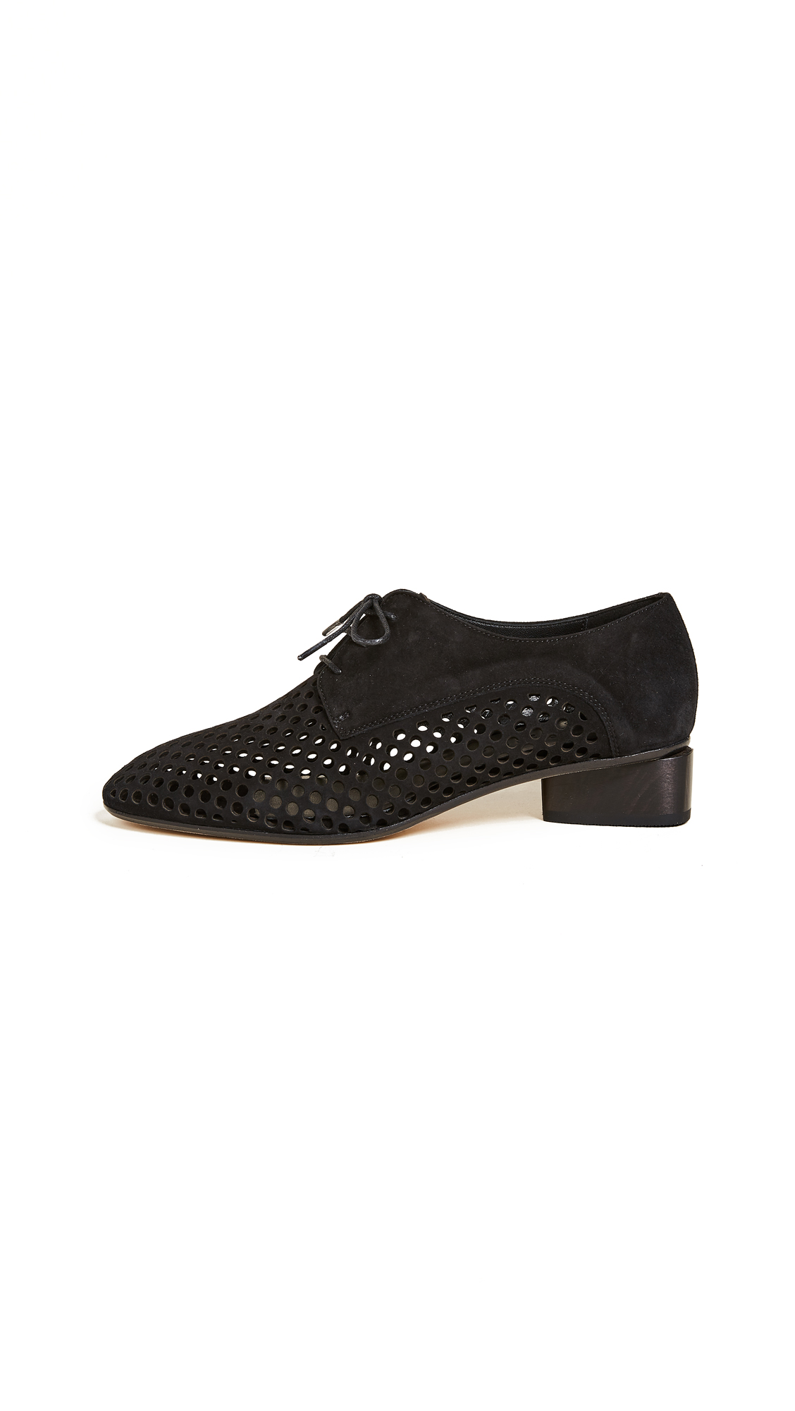 Zero + Maria Cornejo Bowie Perforated Loafers - Black