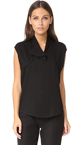 Zero + Maria Cornejo Edia Top In Black