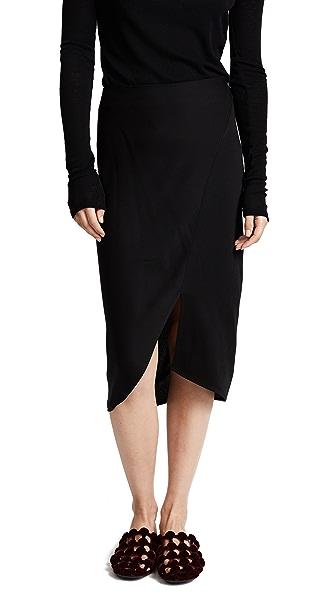 Zero + Maria Cornejo Slim Lui Skirt In Black