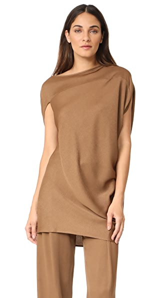 Zero + Maria Cornejo Lui Tunic Dress - Coffee