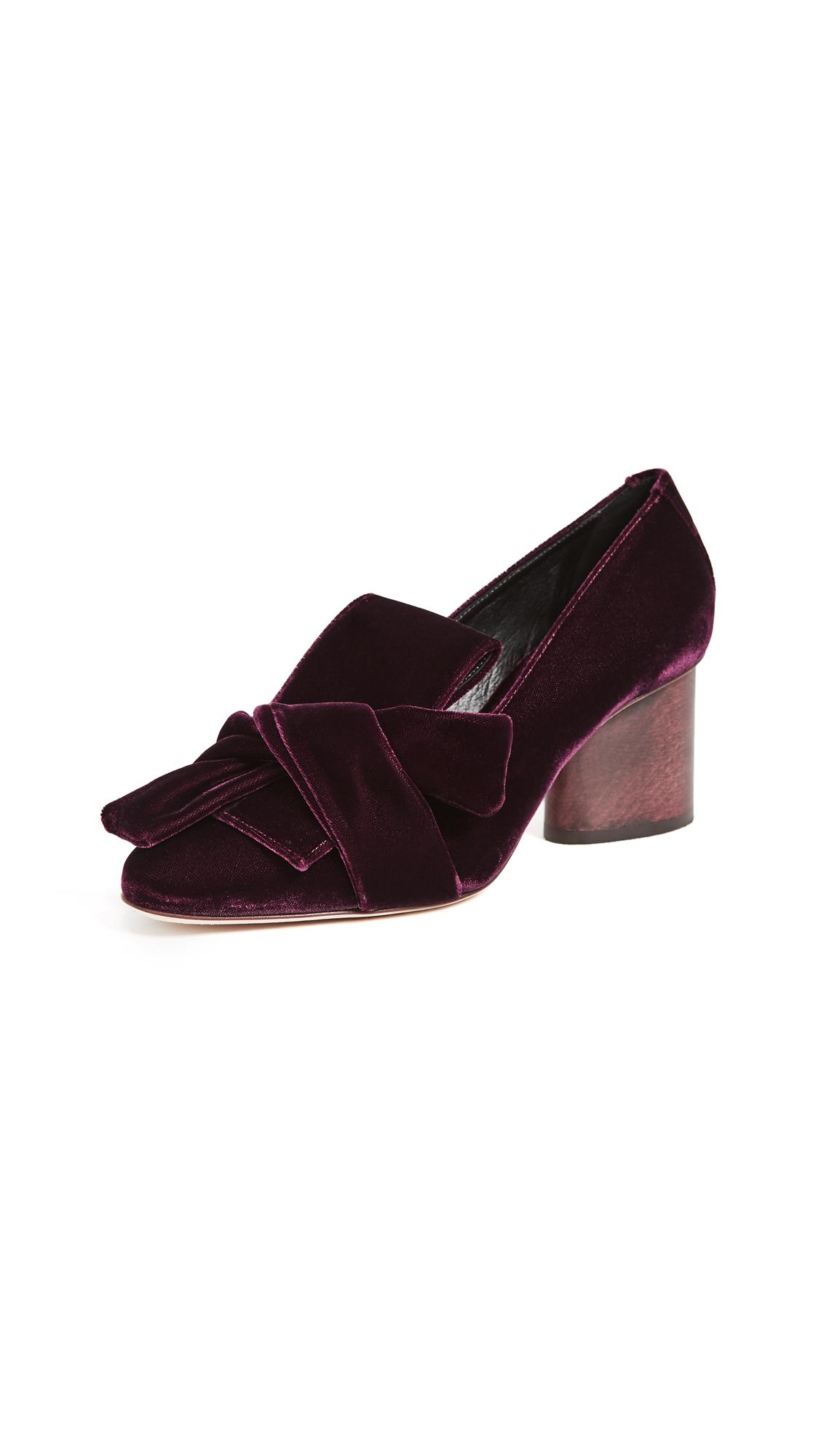 Zero + Maria Cornejo Sofilane Block Heel Pumps - Merlot