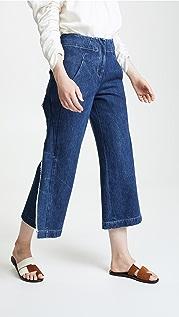 Zero + Maria Cornejo Denim Cropped Fin Pants