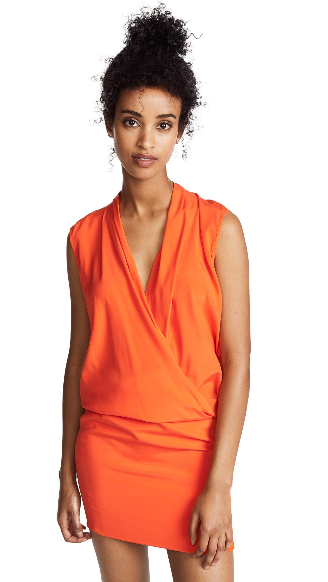Zero + Maria Cornejo Jazmin Midi Dress In Safety Orange