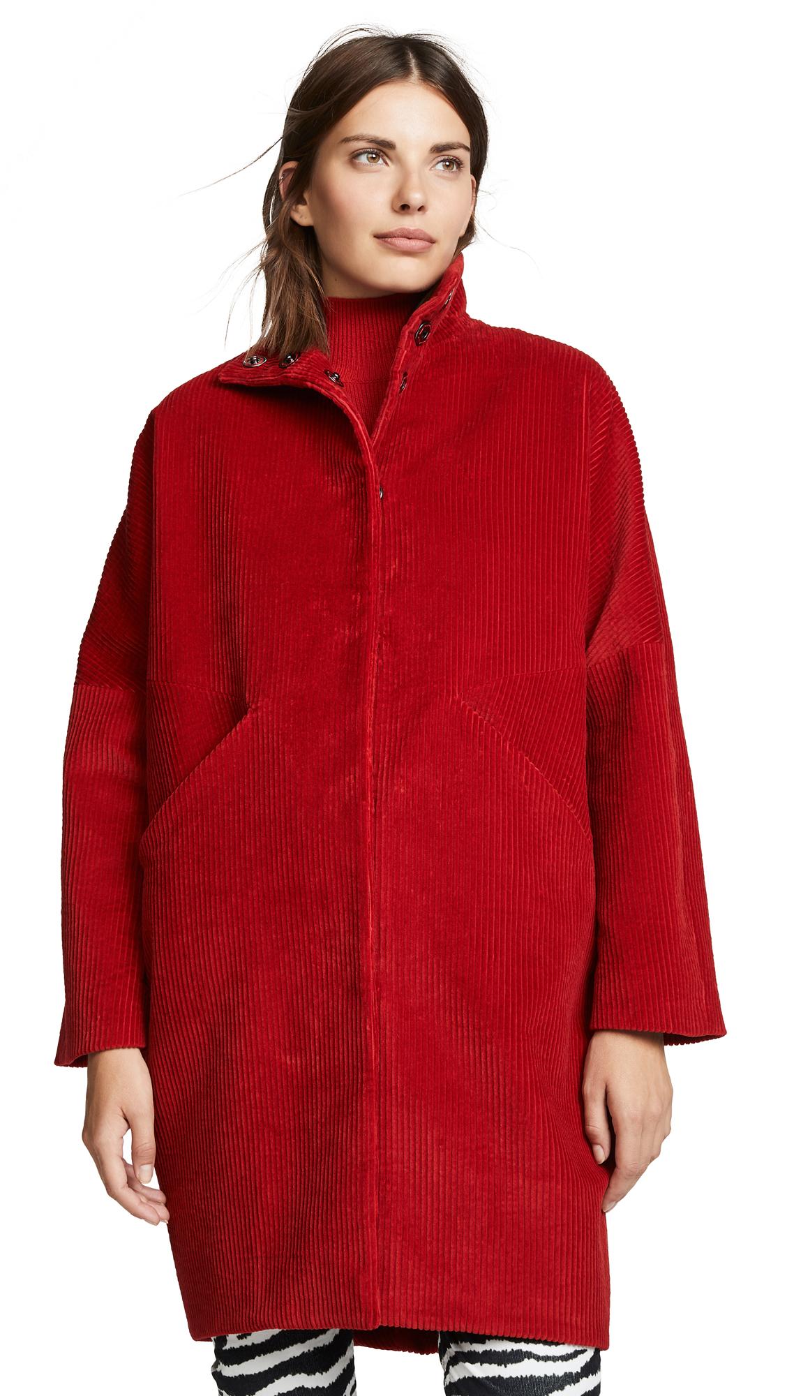 Zero + Maria Cornejo Bea Coat In Rouge