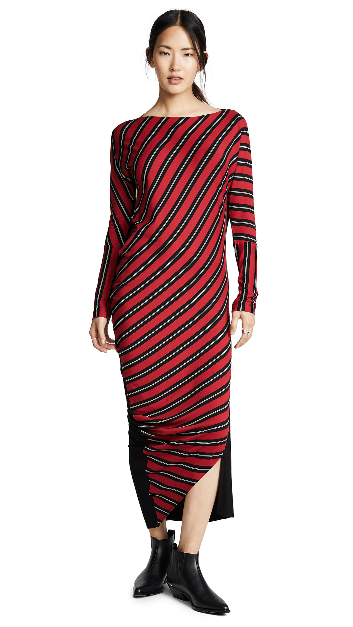 Zero + Maria Cornejo Lui Dress - Black/Rouge