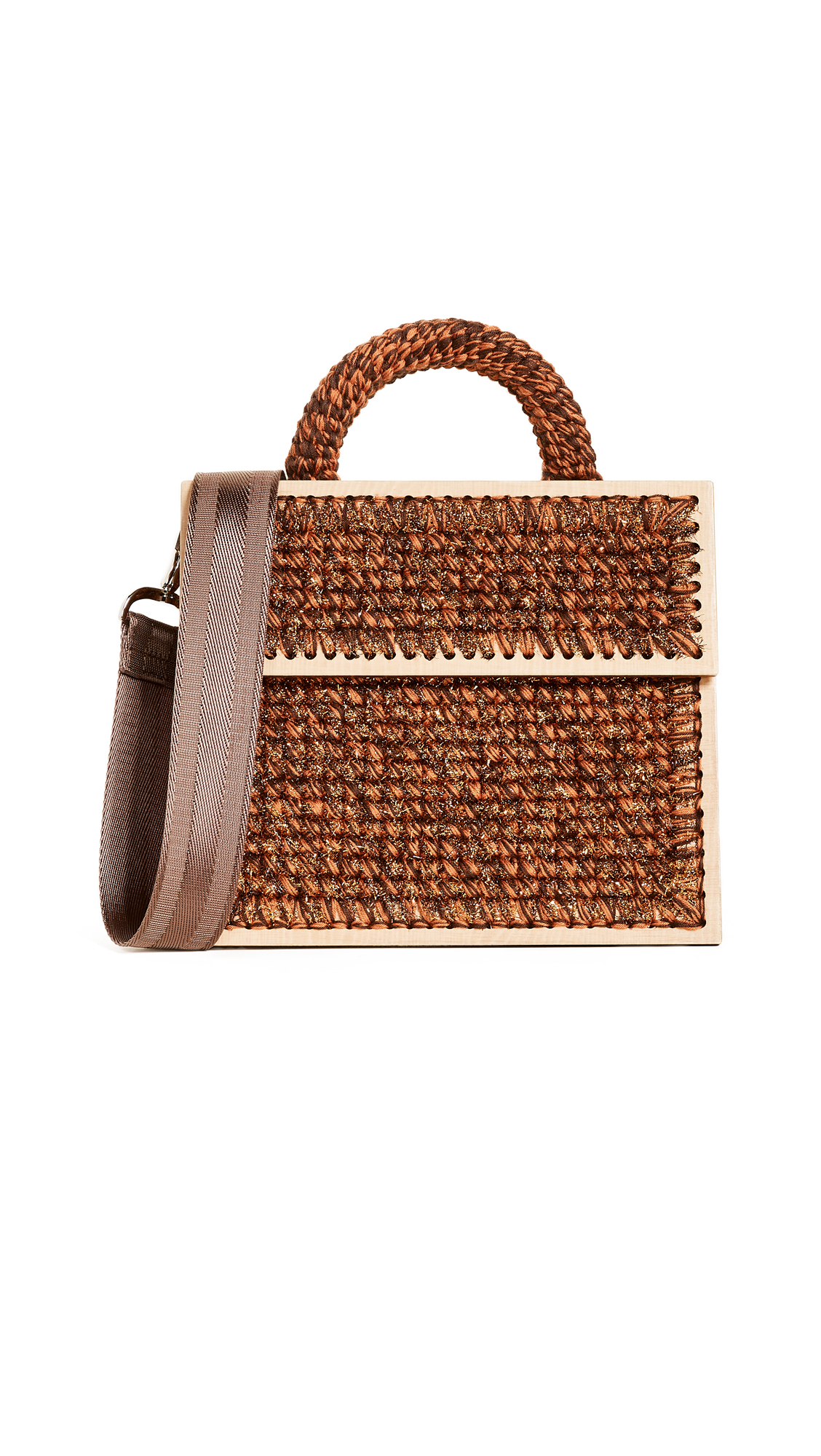 0711 Lyudmila Copacabana Purse - Brown