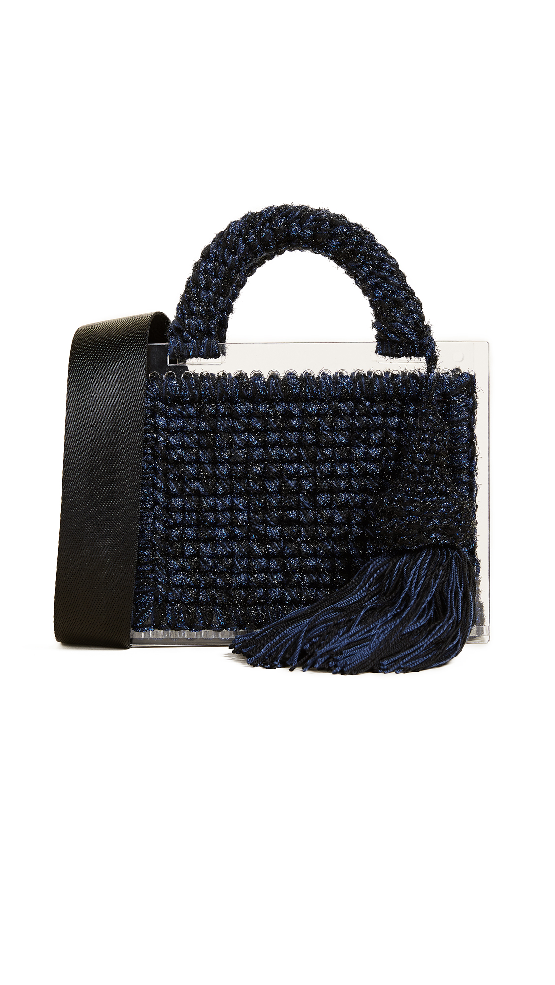 0711 Lyudmila St. Barts Purse - Blue/Black