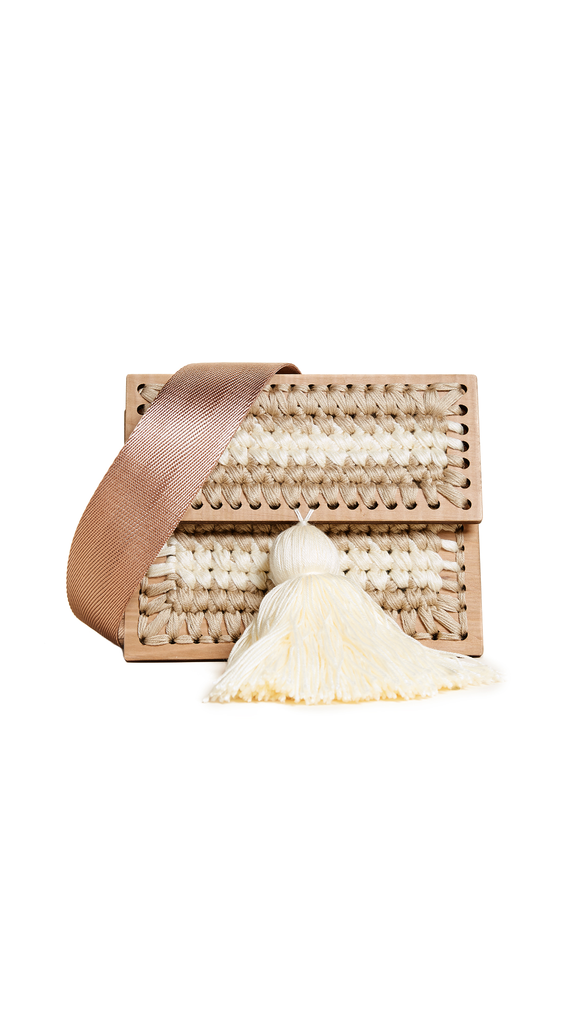 0711 Sergei Copacabana Clutch - Beige/Cream