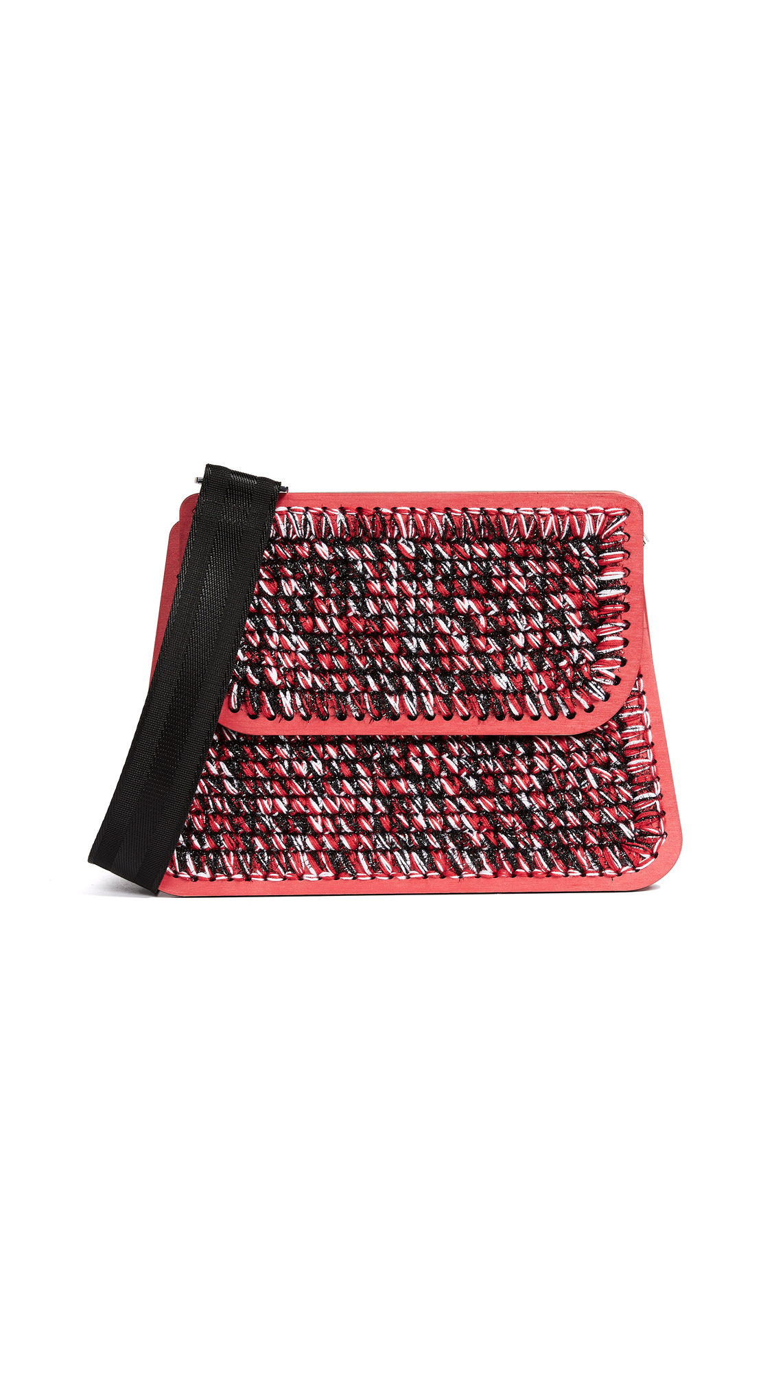 0711 Juliete Monaco Purse - Red/White/Black