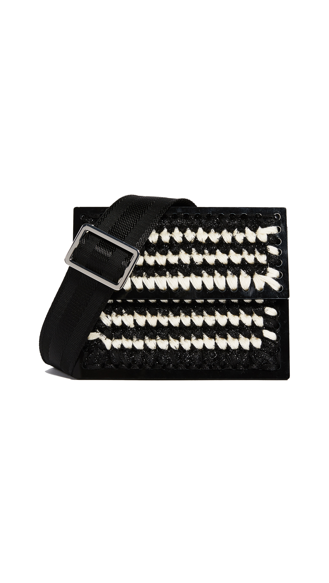 0711 Le Secretaire Copacabana Clutch - Black/White