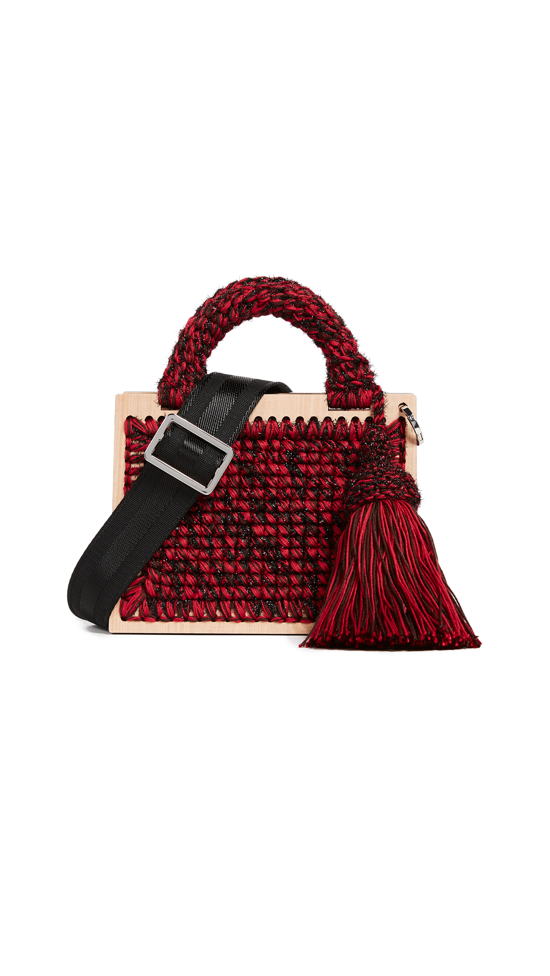 0711 Madame Tardieu St. Barts Purse - Red/Brown/Black