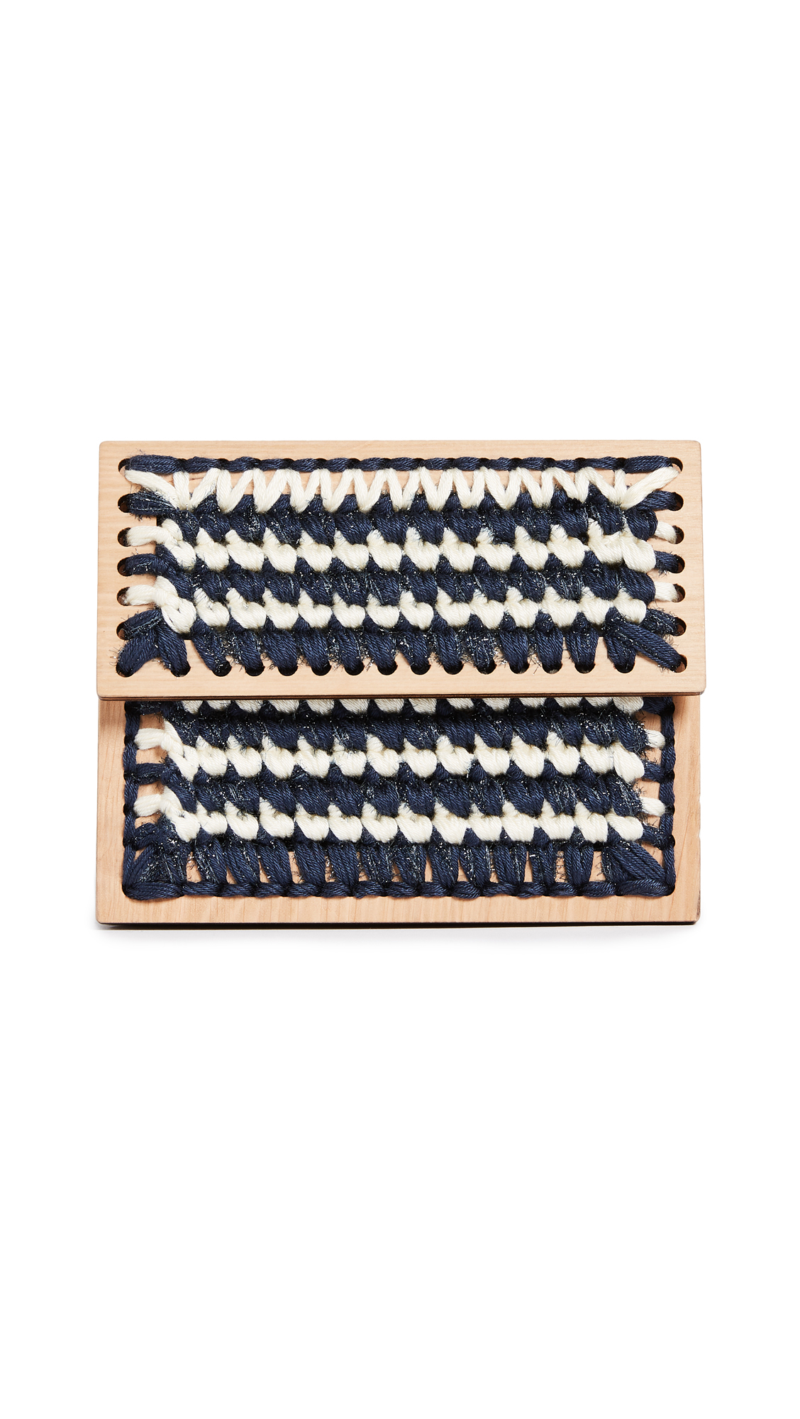 0711 Lucienne Copacabana Clutch - Blue/Cream