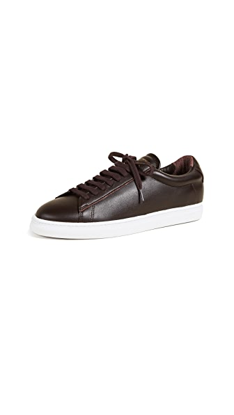 Zespa Leather Sneakers In Bordeaux
