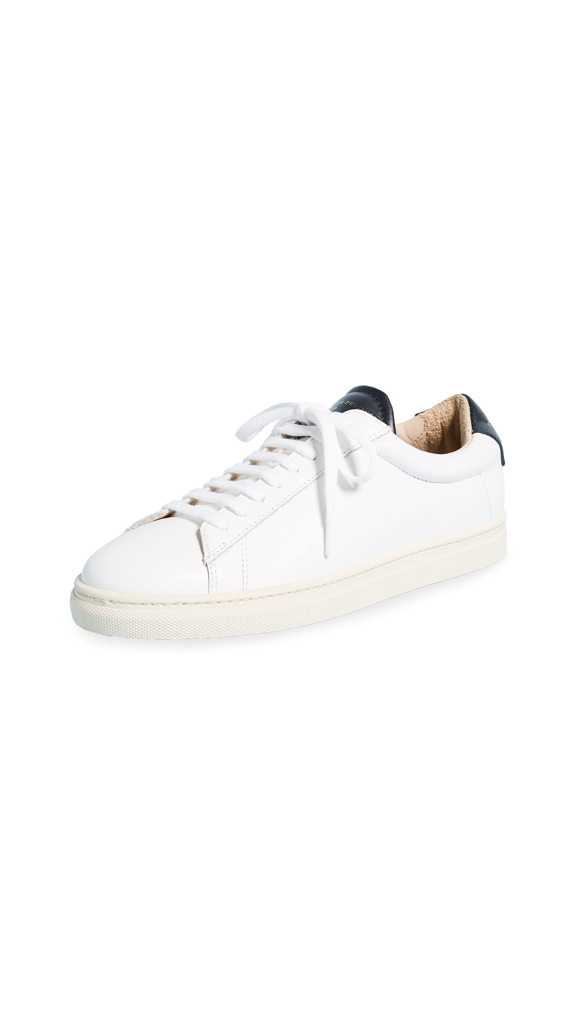 Zespa Lace Up Sneakers - White/Navy