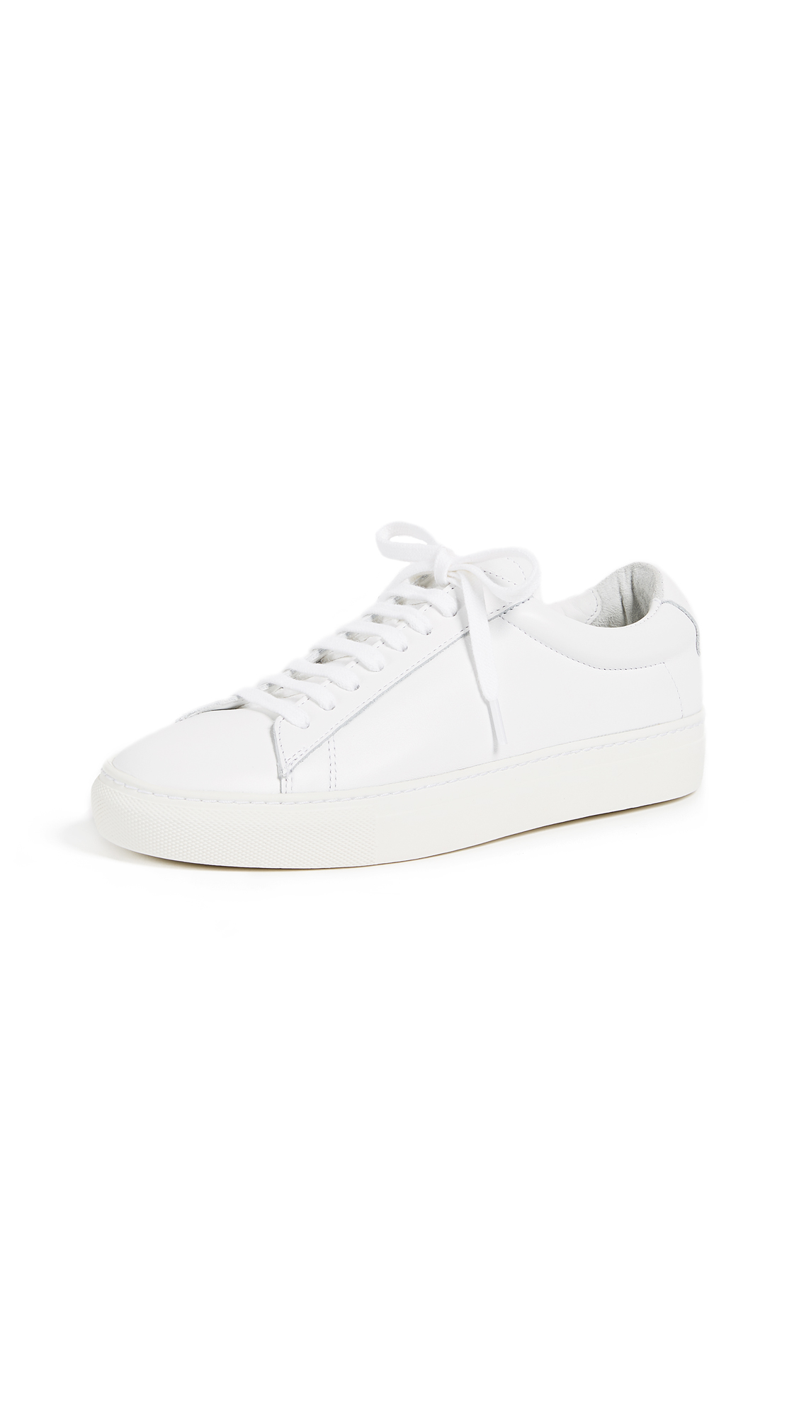 Zespa Lace Up Sneakers - White/White
