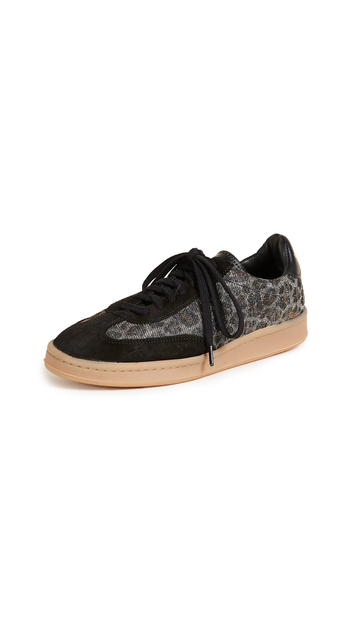 Zespa Leopard Glitter Sneakers - Black/Leopard