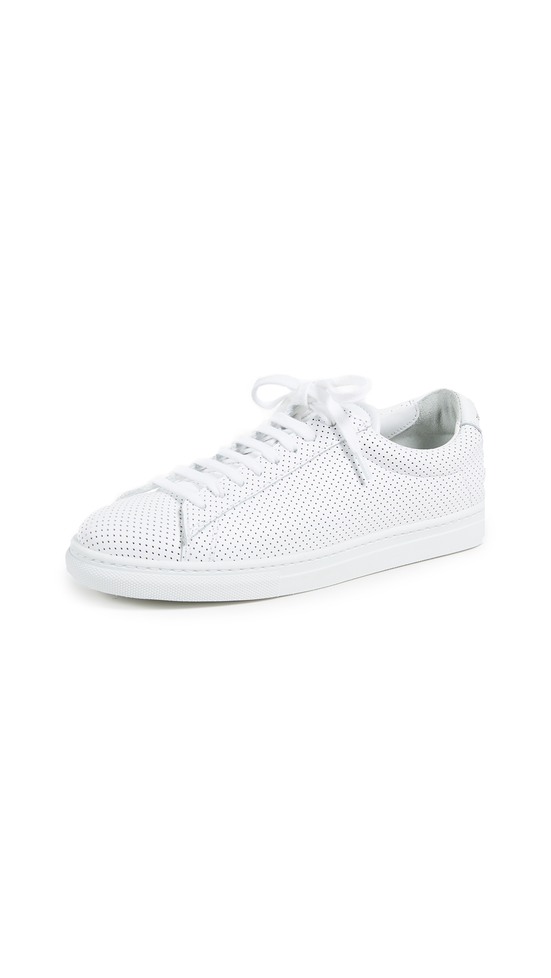 Zespa Perforated Laceup Sneakers - White