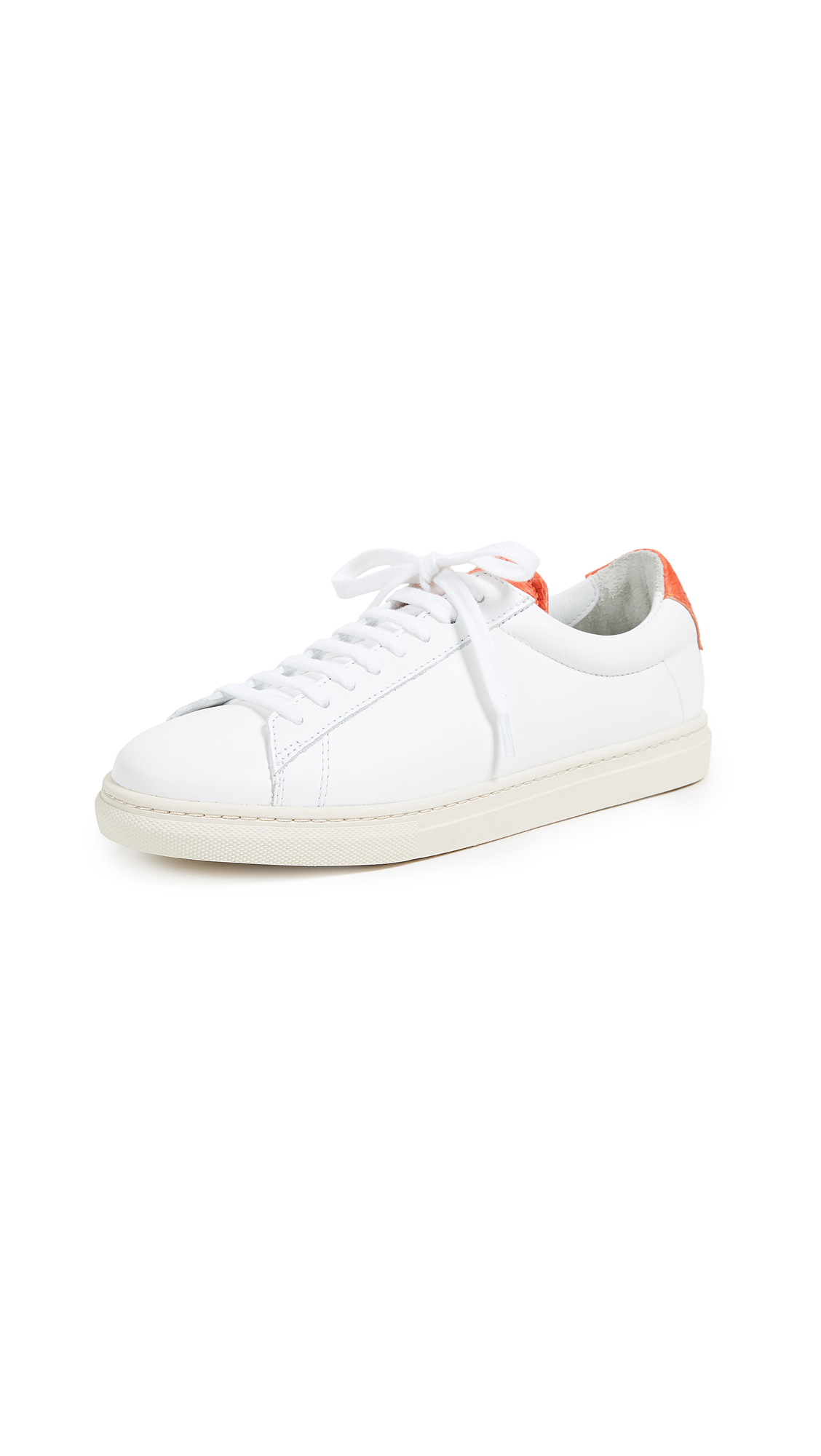 Zespa Lace Up Sneakers - White/Orange