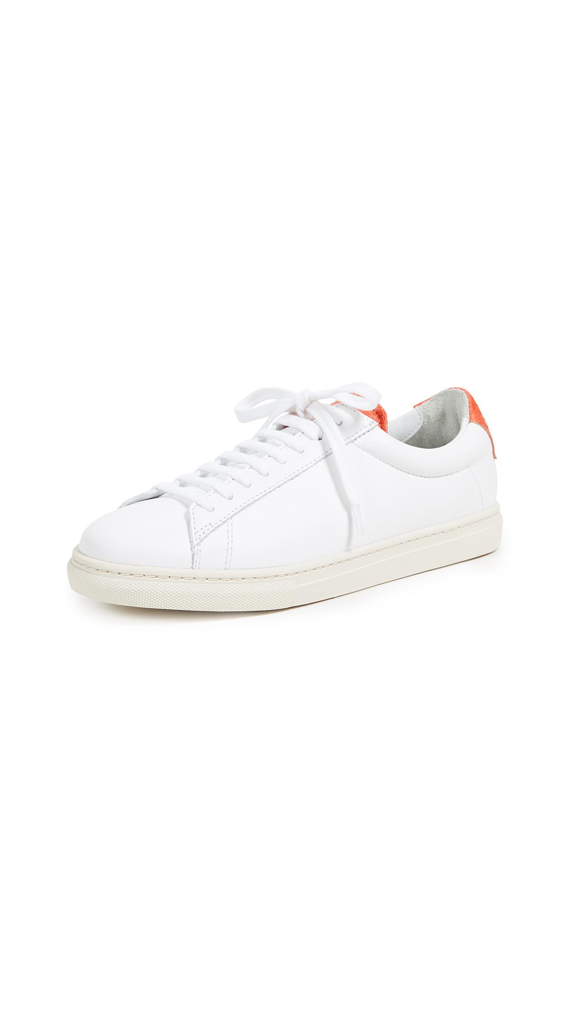Zespa Lace Up Sneakers - White/Orange