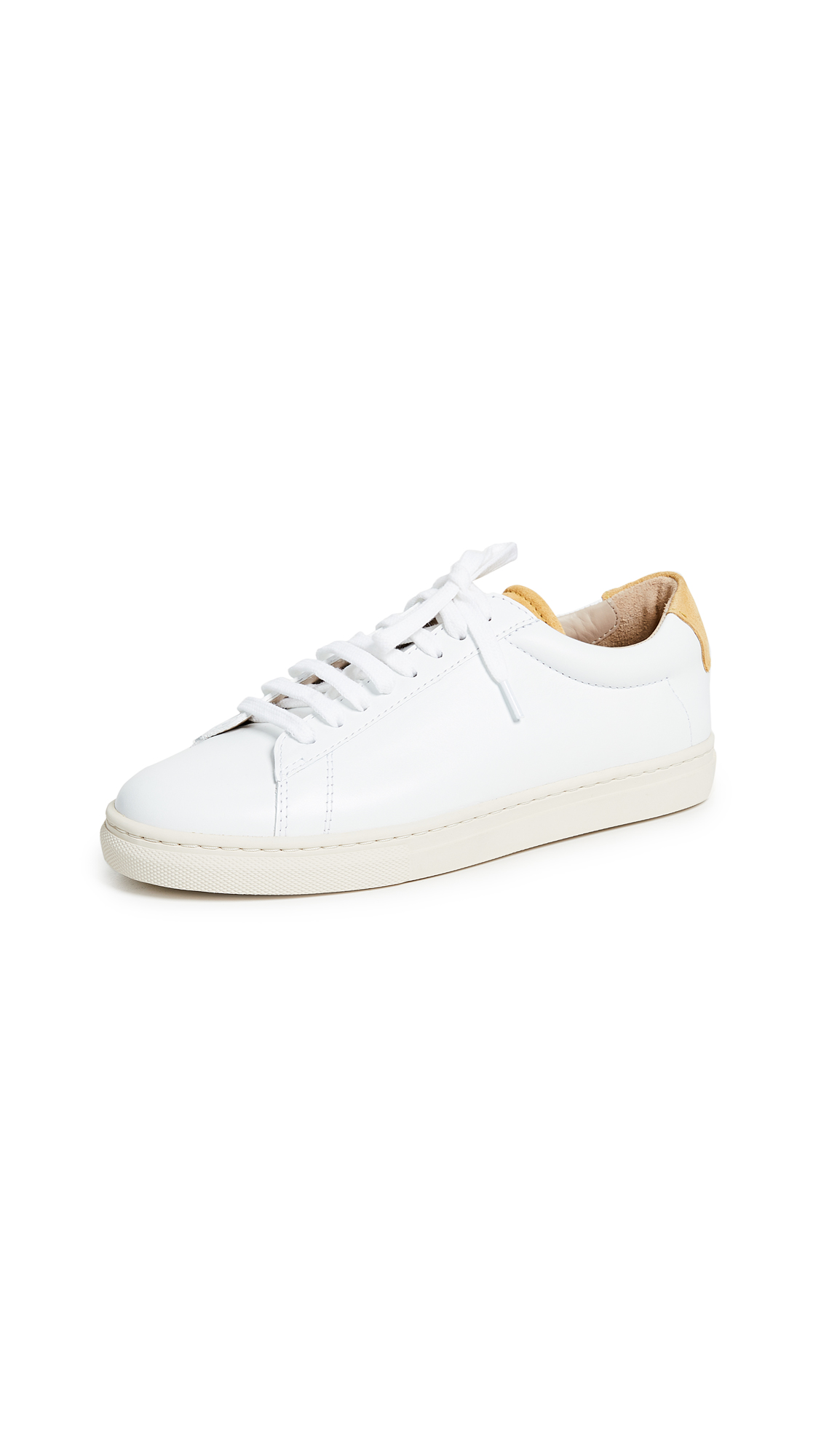 Zespa Lace Up Sneakers - White/Mustard