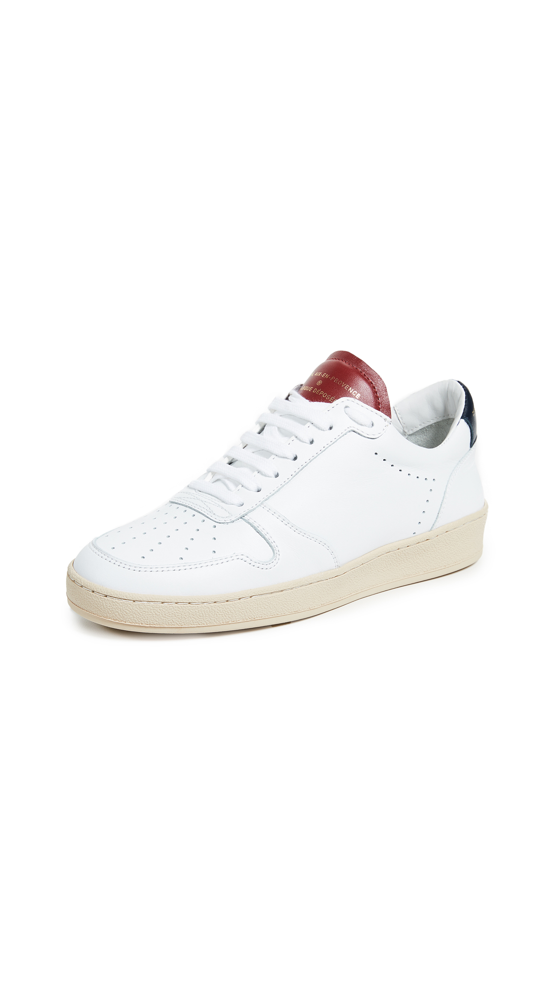 Zespa Lace Up Sneakers - White/Red/Navy