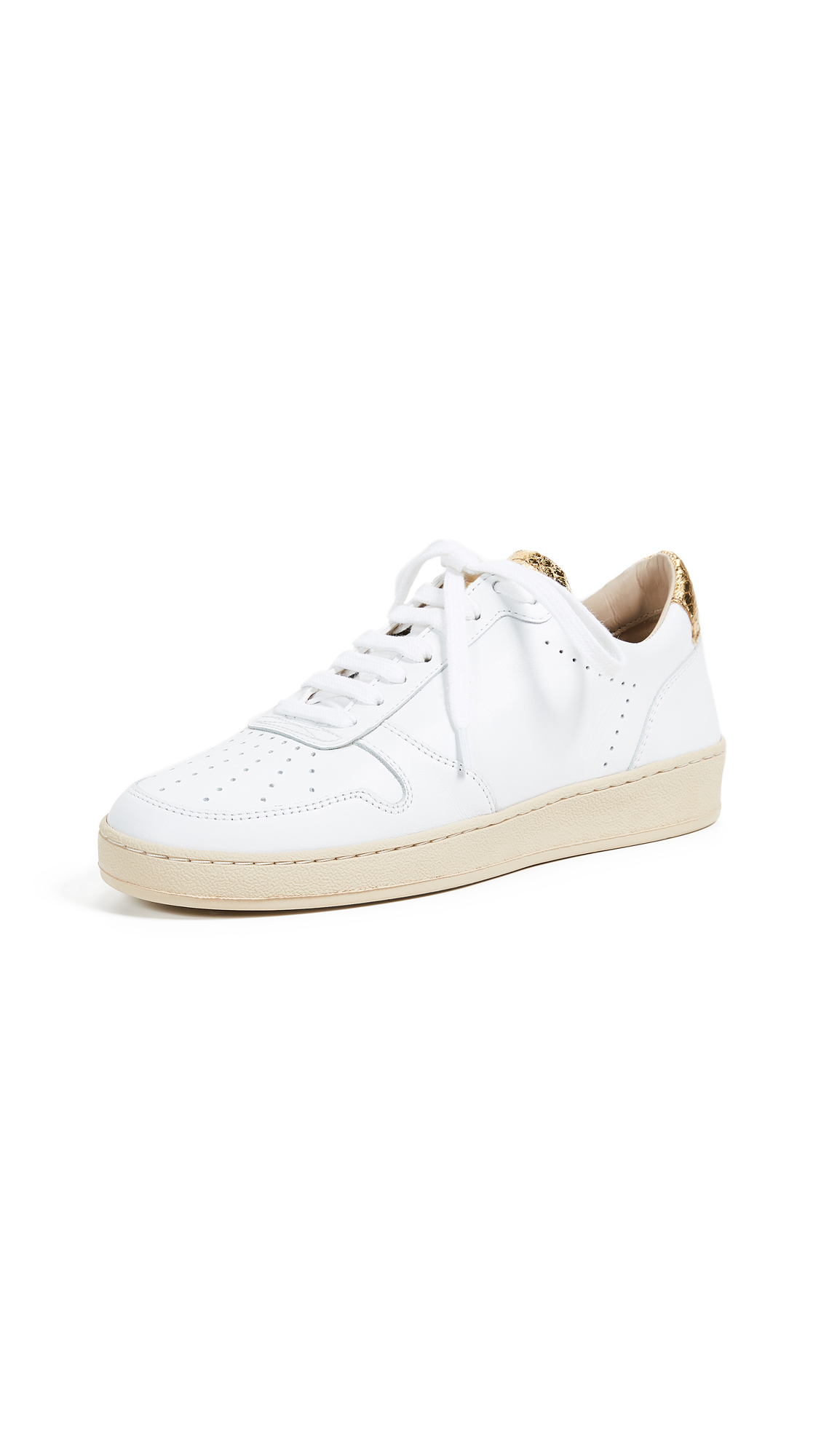 Zespa Lace Up Sneakers - White/Gold