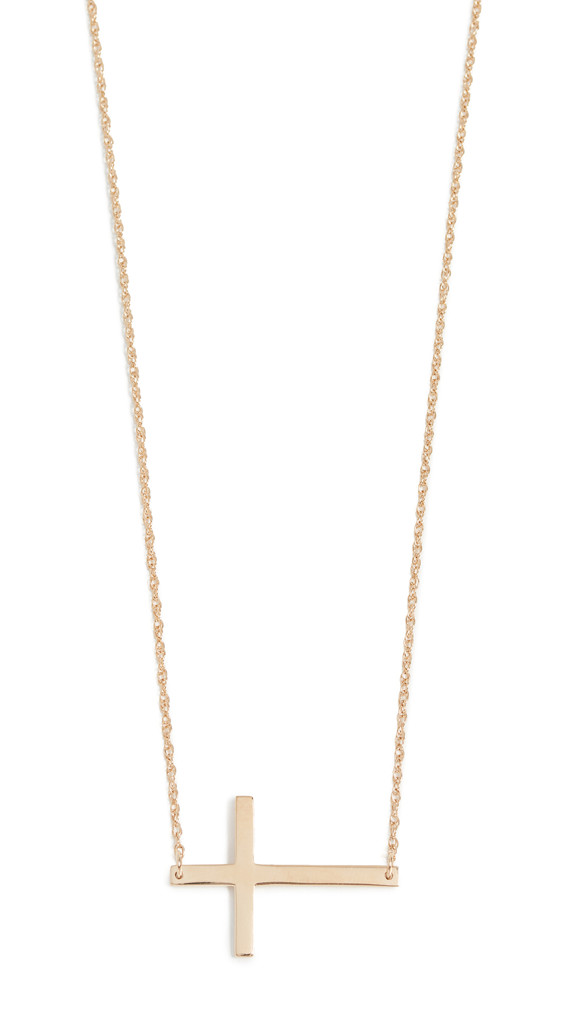 Jennifer Zeuner Jewelry Horizontal Cross Necklace - Gold
