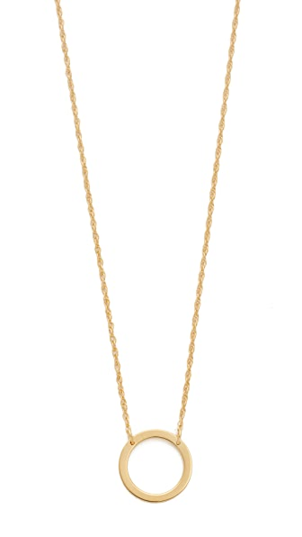 Jennifer Zeuner Jewelry Small Open Circle Necklace In Gold