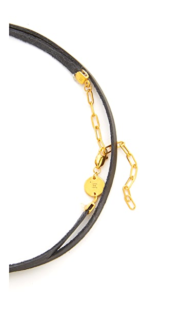 Jennifer Zeuner Jewelry Ivy Gia Wrap Choker Necklace