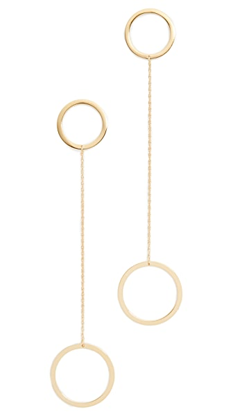 Jennifer Zeuner Jewelry Laine Earrings In Gold